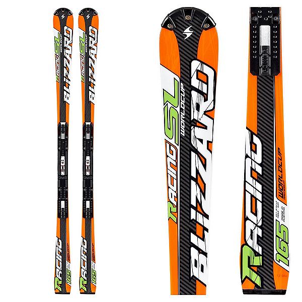 Blizzard SL Race Full Suspension Race Skis, Orange, 600