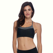 Body Glove Lotus Womens Sports Bra, Black, medium
