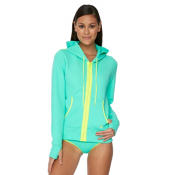 Body Glove Live It Up Womens Hoodie, Lagoon, medium