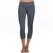 Body Glove Apex Capri Womens Pants, Grey Black Heather, medium