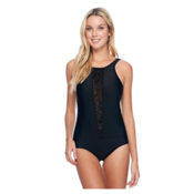 Body Glove View Point One Piece Swimsuit, Black, medium