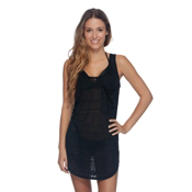 Body Glove Lexi Dress Bathing Suit Cover Up, Black, medium