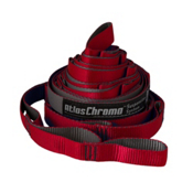 ENO Atlas Chroma Suspension Straps 2017, Red-Charcoal, medium