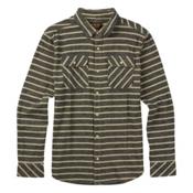 Burton Brighton Long Sleeve Mens Flannel, Eclipse Dock Stripe, medium