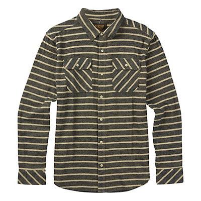Burton Brighton Long Sleeve Mens Flannel, Eclipse Dock Stripe, viewer