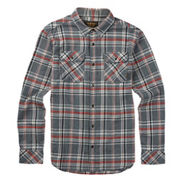 Burton Brighton Long Sleeve Mens Flannel, Monument Fleck Plaid, 256