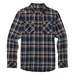 Burton Brighton Long Sleeve Mens Flannel, Eclipse Fleck Plaid, 256
