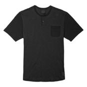 Burton Dwight Henley Mens T-Shirt, True Black, medium