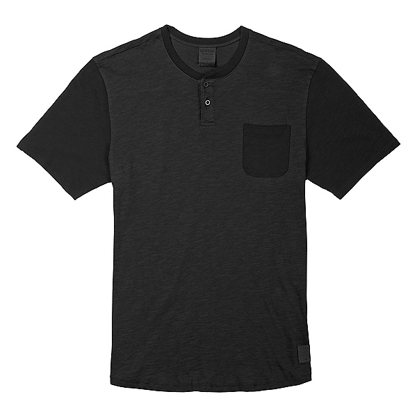 Burton Dwight Henley Mens T-Shirt, True Black, 600