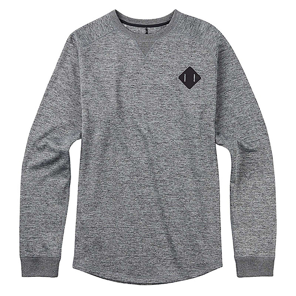 Burton Caption Crew Mens Sweatshirt, True Black Heather, 600