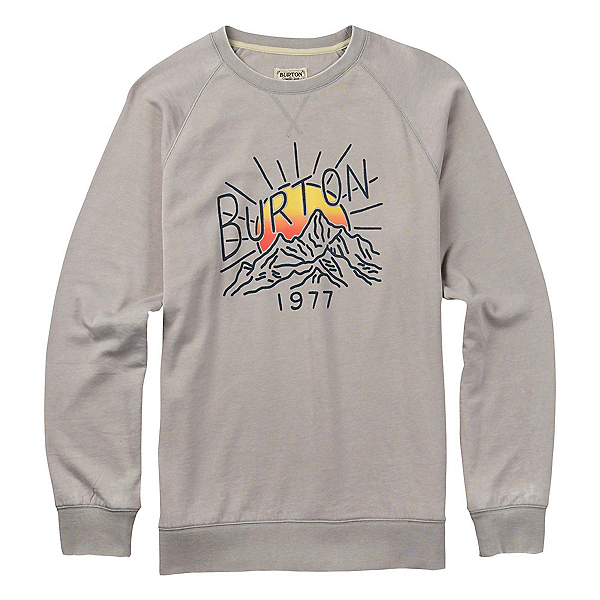 Burton Ridge View Crew Mens Sweatshirt, Gray Heather, 600