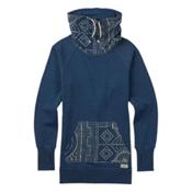 Burton Foxtrot Fleece Pullover Womens Sweatshirt, Indigo Heather, medium