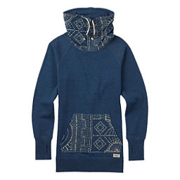 Burton Foxtrot Fleece Pullover Womens Sweatshirt, Indigo Heather, 256