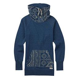 Burton Foxtrot Fleece Pullover Womens Sweatshirt, Indigo Heather, 256