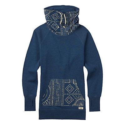 Burton Foxtrot Fleece Pullover Womens Sweatshirt, Indigo Heather, viewer