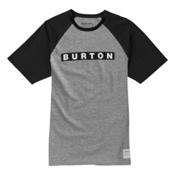 Burton Vault Short Sleeve Mens T-Shirt, Gray Heather, medium