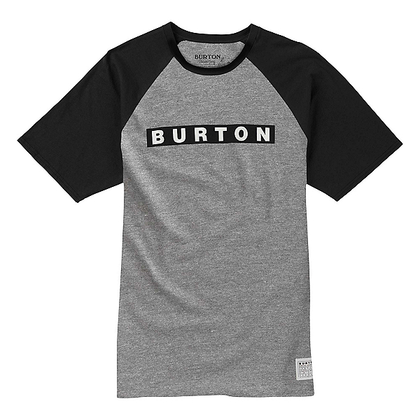 Burton Vault Short Sleeve Mens T-Shirt, Gray Heather, 600