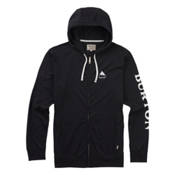 Burton Elite Full Zip Mens Hoodie, True Black, medium