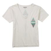 Burton Deco V-Neck Womens T-Shirt, Stout White, medium