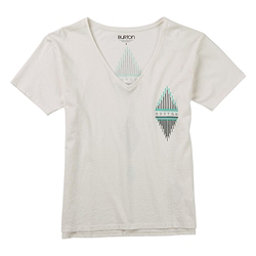 Burton Deco V-Neck Womens T-Shirt, Stout White, 256