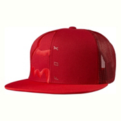 Fox Eyecon Box Snapback Hat, Cranberry, medium