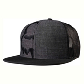 Fox Eyecon Box Snapback Hat, Black, medium