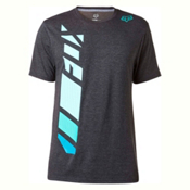 Fox Side Seca Tech Mens T-Shirt, Heather Black, medium