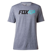 Fox Obsessed Tech Mens T-Shirt, Heather Graphite, medium
