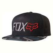 Fox Obsessed Snapback Hat, Black-Camo, medium