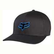 Fox Legacy Flexfit Hat, Black-Blue, medium