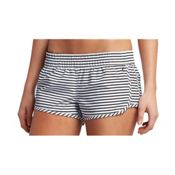 Hurley Stripe Beachrider Supersuede Womens Board Shorts, White, medium