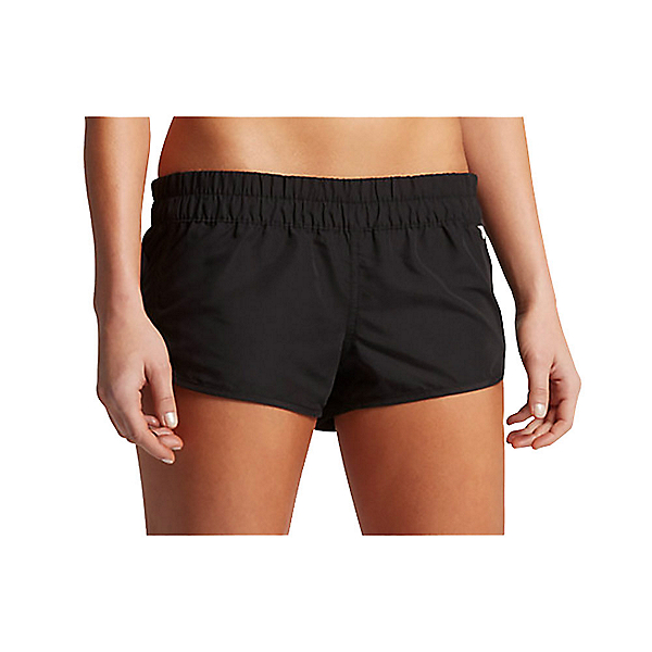 Hurley Solid Beachrider Supersuede Womens Board Shorts, Black, 600