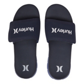 Hurley Fusion Suede Slide Mens Sandals, Obsidian, medium