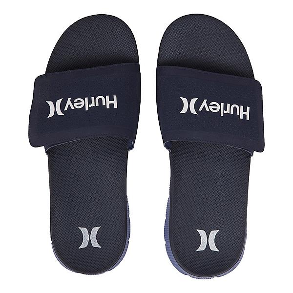 Hurley Fusion Suede Slide Mens Sandals, Obsidian, 600