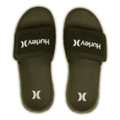 Hurley Fusion Suede Slide Mens Sandals, Palm Green, medium