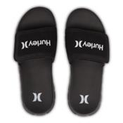 Hurley Fusion Suede Slide Mens Sandals, Black, medium