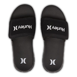 Hurley Fusion Suede Slide Mens Sandals, Black, 256