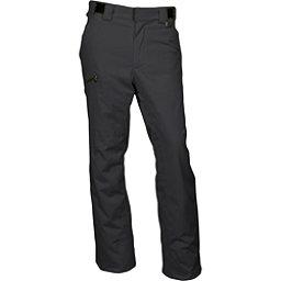 Karbon Silver Mens Ski Pants, Black-Black, 256