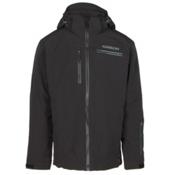 Karbon Stealth Mens Insulated Ski Jacket, Black-Black-Charcoal-Pu Film-C, medium
