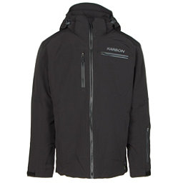 Karbon Stealth Mens Insulated Ski Jacket, Black-Black-Charcoal-Pu Film-C, 256