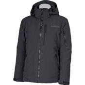 Karbon Command Mens Insulated Ski Jacket, Charcoal-Black-Pu Film, medium