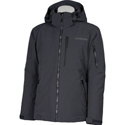 Karbon Command Mens Insulated Ski Jacket, Charcoal-Black-Pu Film, 256
