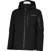 Karbon Command Mens Insulated Ski Jacket, Black-Black-Pu Film, medium