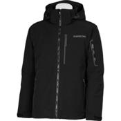 Karbon Command Mens Insulated Ski Jacket, Black-Black-Pu Film, medium