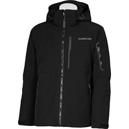 Karbon Command Mens Insulated Ski Jacket, Black-Black-Pu Film, 256