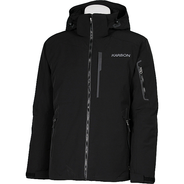 Karbon Command Mens Insulated Ski Jacket, Black-Black-Pu Film, 600