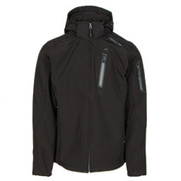 Karbon Edison Mens Soft Shell Jacket, Black-Charcoal, 256