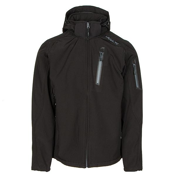 Karbon Edison Mens Soft Shell Jacket, Black-Charcoal, 600