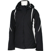 Karbon Opal Womens Insulated Ski Jacket, Black-Black-Arctic White-Arcti, medium