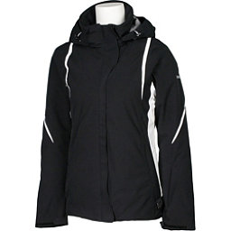 Karbon Opal Womens Insulated Ski Jacket, Black-Black-Arctic White-Arcti, 256